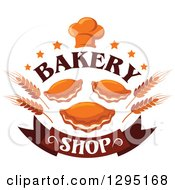 Clipart Of A Muffin And Pastry Bake Shop Design Royalty Free Vector Illustration