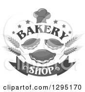 Clipart Of A Grayscale Muffin And Pastry Bake Shop Design Royalty Free Vector Illustration