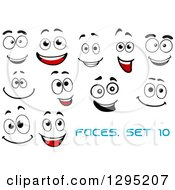 Clipart Of Faces With Different Expressions And Text 7 Royalty Free Vector Illustration
