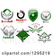 Clipart Of Baseball Sports Designs With Text 4 Royalty Free Vector Illustration