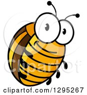 Clipart Of A Cartoon Happy Colorado Potato Beetle Royalty Free Vector Illustration by Vector Tradition SM