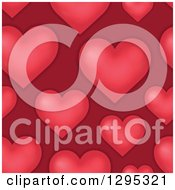Clipart Of A Seamless Background Of Red Hearts Royalty Free Vector Illustration