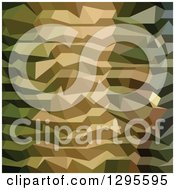 Clipart Of A Low Poly Abstract Geometric Green Camouflage Background 2 Royalty Free Vector Illustration