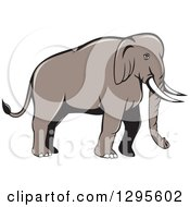Clipart Of A Cartoon Indian Elephant Facing Right Royalty Free Vector Illustration