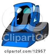 Bobcat Skid Steer Loader In Blue With Blue Tinted Windows