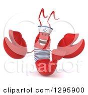3d Happy Sailor Lobster Welcoming
