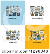 Clipart Of Finance E Commerce Startup Business Icons Royalty Free Vector Illustration by elena