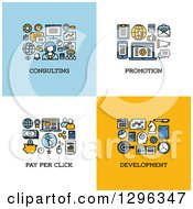 Consulting Promotion Pay Per Click Development Icons