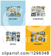Delivery E Shopping Retail Payment Icons