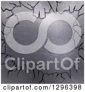 Clipart Of A 3d Cracking Metal Background Royalty Free Illustration