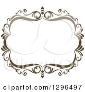 Vintage Brown Swirl Floral Wedding Frame 2