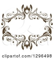 Vintage Brown Swirl Floral Wedding Frame 3