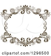 Vintage Brown Swirl Floral Wedding Frame 5