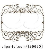 Vintage Brown Swirl Floral Wedding Frame 6