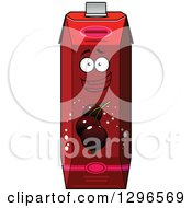 Clipart Of A Cartoon Happy Currant Juice Carton Character Royalty Free Vector Illustration by Vector Tradition SM