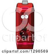 Clipart Of A Cartoon Happy Currant Juice Carton Character Royalty Free Vector Illustration