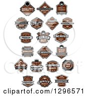 Brown Quality Product Label Retail Designs