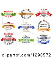 Colorful Quality Product Guarantee Label Retail Designs