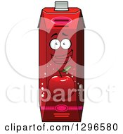 Clipart Of A Happy Red Apple Juice Carton Character 2 Royalty Free Vector Illustration