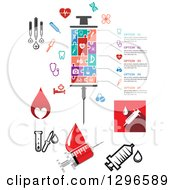 Clipart Of Medical Syringes And Icons Royalty Free Vector Illustration