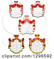 Clipart Of Crowns And Royal Mantles With Red Drapes 3 Royalty Free Vector Illustration