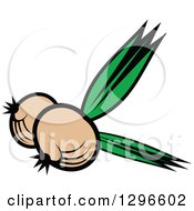 Clipart Of A Cartoon Yellow Onions Royalty Free Vector Illustration