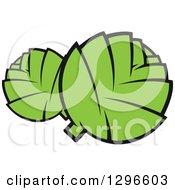 Clipart Of Cartoon Artichokes Royalty Free Vector Illustration by Vector Tradition SM