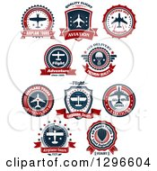 Red White And Blue Airplane Tour Designs 3