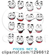 Clipart Of A Faces With Different Expressions And Text 8 Royalty Free Vector Illustration