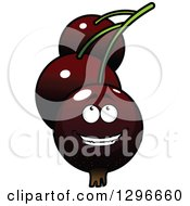 Clipart Of A Cartoon Happy Currants Character Looking Up Royalty Free Vector Illustration