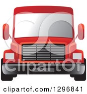 Clipart Of A Red Moving Van Or Big Right Truck Royalty Free Vector Illustration by Lal Perera