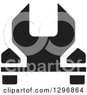 Clipart Of A Black Wrench Royalty Free Vector Illustration by Lal Perera