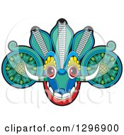 Clipart Of A Devil Dance Mask With Horns Royalty Free Vector Illustration by Lal Perera