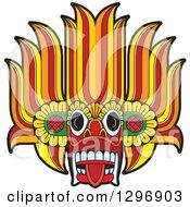 Clipart Of A Devil Dance Mask Royalty Free Vector Illustration