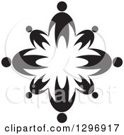 Clipart Of Black Families Holding Hands In A Circle Royalty Free Vector Illustration by Lal Perera