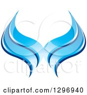 Clipart Of Blue Waves Royalty Free Vector Illustration