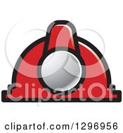 Clipart Of A Red Industrial Hard Hat Helmet Royalty Free Vector Illustration by Lal Perera