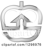 Clipart Of A Silver House In An Apple Royalty Free Vector Illustration by Lal Perera