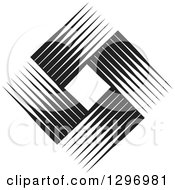 Clipart Of A Diamond Made Of Black And White Lines 2 Royalty Free Vector Illustration by Lal Perera