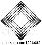 Clipart Of A Diamond Made Of Black And White Lines Royalty Free Vector Illustration by Lal Perera