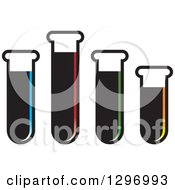 Clipart Of Test Tubes Of Colorful Liquids Royalty Free Vector Illustration by Lal Perera