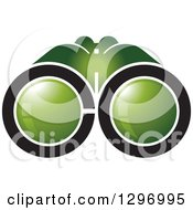 Clipart Of A Greena Nd Black Abstract Letter CO Binoculars Royalty Free Vector Illustration by Lal Perera