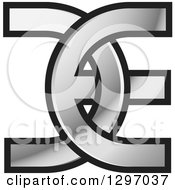 Clipart Of A Silver And Black DE Logo Royalty Free Vector Illustration
