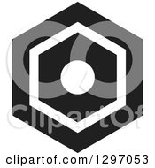 Clipart Of A Black And White Nut Royalty Free Vector Illustration by Lal Perera