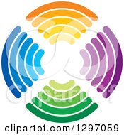 Clipart Of A Circle Of Colorful Signals Royalty Free Vector Illustration by Lal Perera