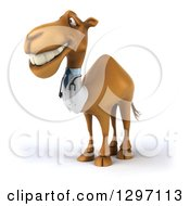 Clipart Of A 3d Doctor Camel Smiling And Facing Left Royalty Free Illustration