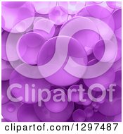 Clipart Of A Background Of 3d Transparent Purple Circular Disks Royalty Free Illustration by Frank Boston