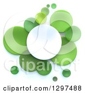 Clipart Of 3d White And Green Circular Disks On White Royalty Free Illustration by Frank Boston