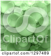 Clipart Of A Background Of 3d Transparent Green Circular Disks Royalty Free Illustration