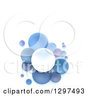Clipart Of 3d White And Blue Circular Disks On White With Text Space Royalty Free Illustration by Frank Boston